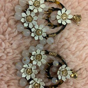 J Crew Floral Statement Earrings